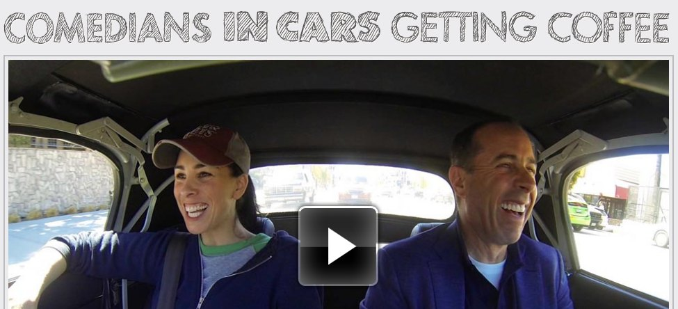 comedians in cars getting coffee season 2 the ignition blog. Black Bedroom Furniture Sets. Home Design Ideas