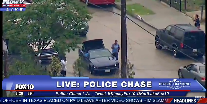 LIVE Police Chase In LA YouTube