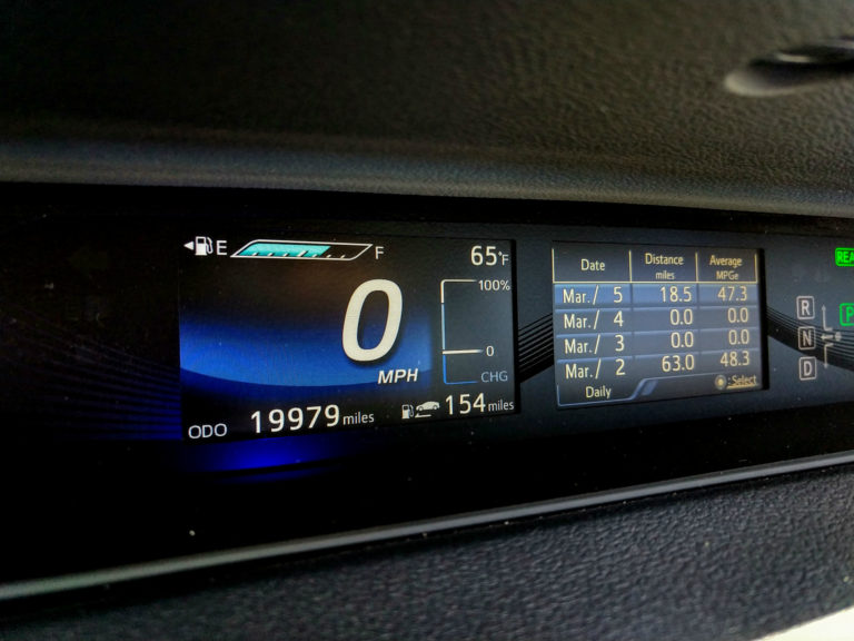 2018 Toyota Mirai Hydrogen Fuel Cell Interior 006