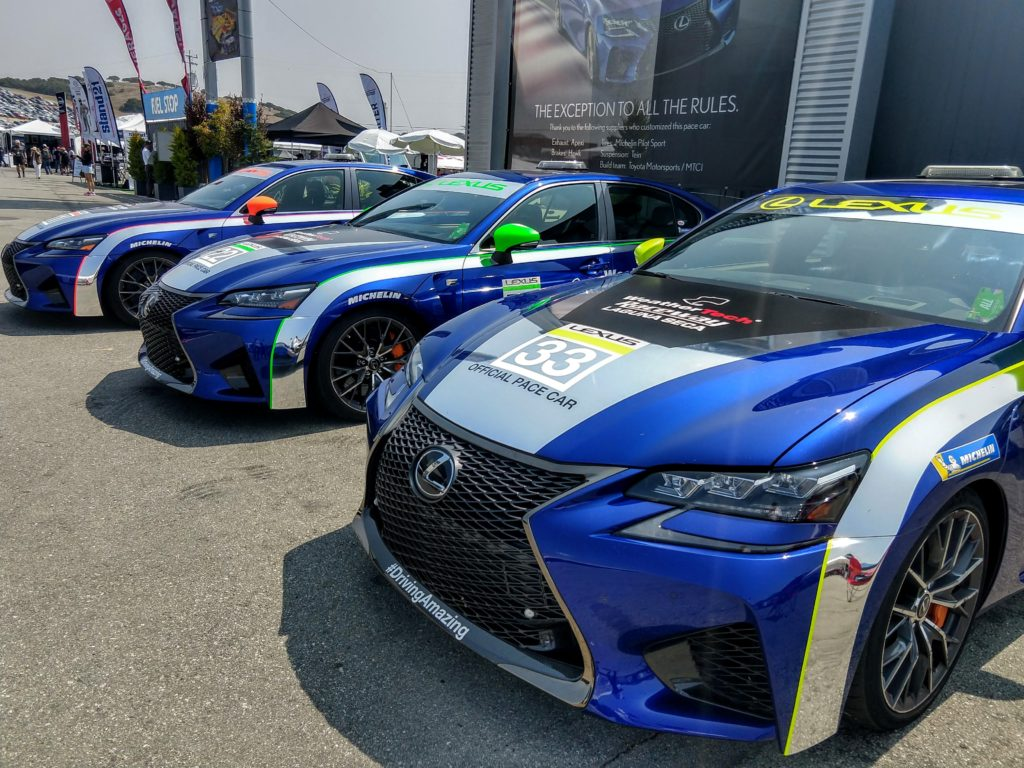 Lexus GS F Pace Cars Laguna Seca 2018