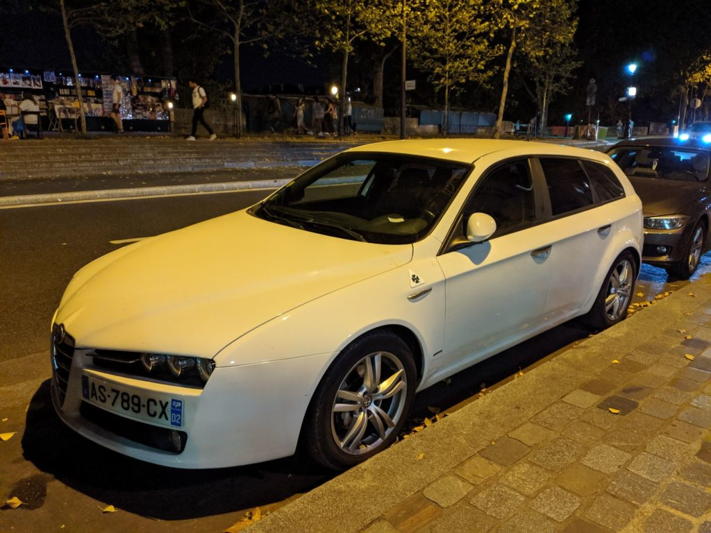 Paris Cars Alfa Romeo 159 Sportwagon White
